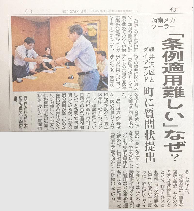 伊豆日日新聞(2019年8月14日版)